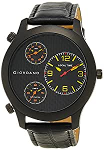 Giordano Chronograph Multi-Colored Dial Men's Watch-60068 Black/Yellow