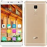 "Elephone S3 - Smartphone libre 4G LTE Android 6 (Pantalla 5.2"", 16GB ROM, 3GB RAM, Octa-Core , Cámara 13.0 Mp, Lector de huellas dactilares, Carga rápida), Champán"