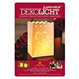 LUMINARIA 8547100 Lichtertüte Amore klein - 10er Set, Windlicht, Zellstoff, 11 x 16 x 9 cm, Weiß