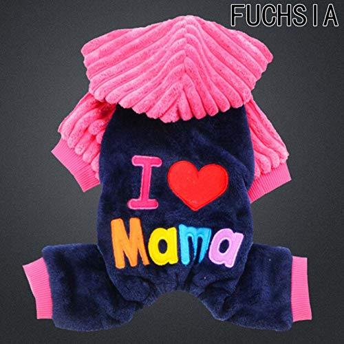 dfgjdryt Fashion Pets Kostüme I Love Papa/I Love Mama Hunde Katzen Kostüme Halloween Weihnachten Hunde Katzen Super Crazy Kleidung für Cosplay Party für Zuhause Dekoration - Red-m