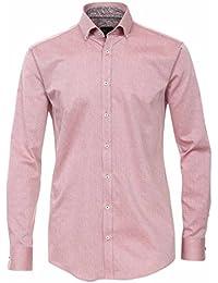 Venti Herren Hemd mit Modischem Druck Slim Fit 100% Baumwolle