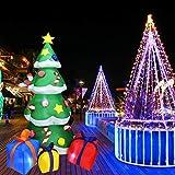 LoveLeiter aufblasbarer Weihnachtsbaum, Dekoration mit Licht Weihnachten Dekoration für Innen-...