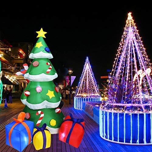 ToDIDAF Weihnachtsdeko Aufblasbarer Weihnachtsbaum mit LED Outdoor-Verzierungen für Weihnachten Hotel Halle Geschäft Garten Rasen Garten Dekor 6,8 Fuß