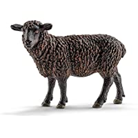 Schleich - Figura oveja, color negro (13785)