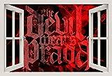 Unified Distribution Der Teufel trägt Prada - Wandtattoo mit 3D Effekt, Aufkleber für Wände und Türen Größe: 92x61 cm, Stil: Fenster
