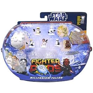 Star Wars – 38583 – Fighter Pods – Série 1 – Coffret Millennium Falcon – Pack 8 Figurines Aléatoires