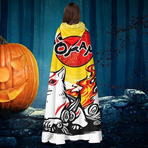 NULLYTG Dokami Okami Unisex Weihnachten, Halloween, Hexenritter, Kapuzenmantel, Vampirumumhang, Cosplay-Kostüm