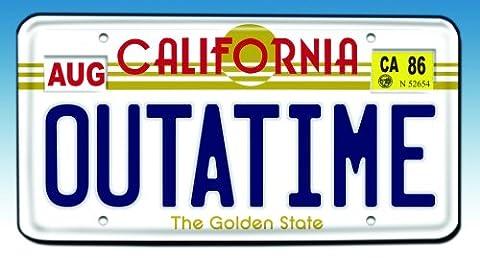 Back to the Future Outatime License Plate Replica