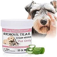 Salviette Cani per Occhi Salviette Detergenti per Cani e Gatti Salviette Umidificate per Pulire Gli Trattamento Naturale per Cani e Gatti per rimuovere macchie causato da lacrime muco saliva,100pcs