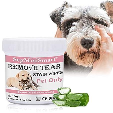 SEGMINISMART Augen-Reinigungspads für Hunde und Katzen 100 Stück, Milde Augen-Reinigung ohne zu Reizen, Entfernt sanft…