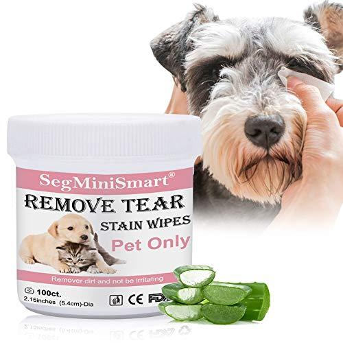 SEGMINISMART Salviette per Cani Occhi Salviette Detergenti per Cani e Gatti Salviette Umidificate per Pulire Gli Occhimiglior Trattamento Naturale per Cani e Gatti
