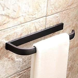 crochets de salle de bain porte serviette barre noir serviette de bain de chrome. Black Bedroom Furniture Sets. Home Design Ideas