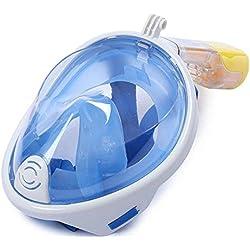 moyun nuevo completo Máscara de buceo máscara Snorkel Set Buceo Gafas Gafas de buceo para GoPro, color azul, tamaño medium