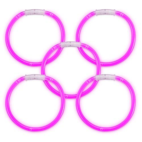 (Glow Sticks Glow Armbänder 100Also Premium Qualität Knicklichtern geliefert–Pink)