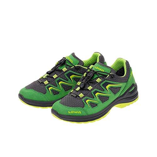 Lowa Innox Evo Gtx Lo Junior, Chaussures de Randonnée Mixte Enfant vert/noir