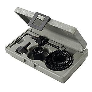 Silverline 995740 Coronas perforadoras, 0 V, negro, Set de 11 Piezas