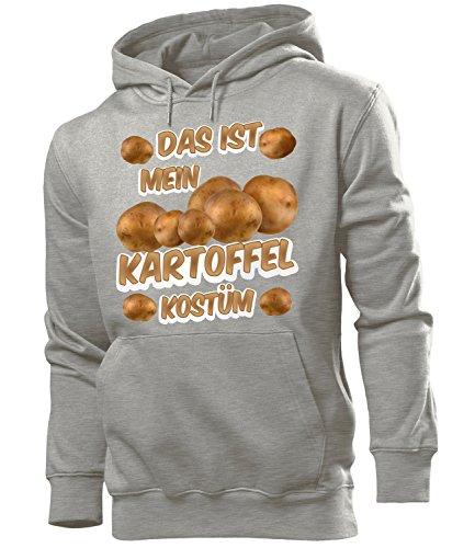EL Kostüm 5233 Herren Hoodie (HKP-GRAU) Gr. M (Kartoffel-kostüme)