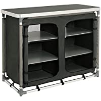 CampFeuer camping cupboard, camping kitchen with aluminium frame, approximate dimensions: length 102 cm x width 47 cm x height 82 cm