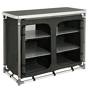 CampFeuer - Campingschrank, Campingküche mit Aluminiumgestell, ca. (L) 102 cm...
