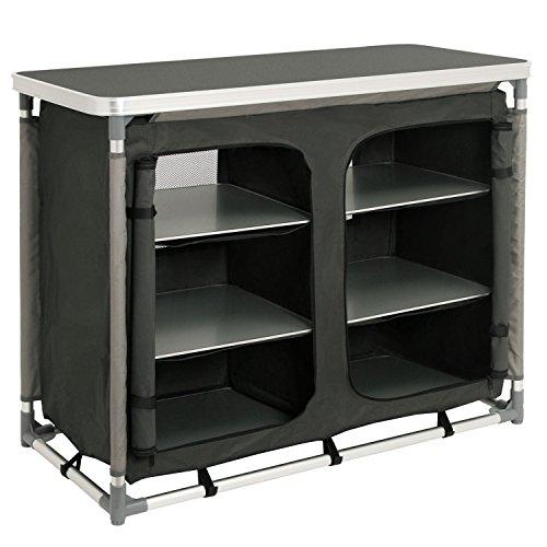CampFeuer - Campingschrank, Campingküche mit Aluminiumgestell, ca. (L) 102 cm x (B) 47 cm x (H) 82 cm Camping Küche