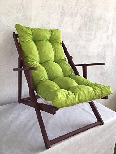 Tecnoweb ricambio cuscino poltrona relax imbottita colore lime