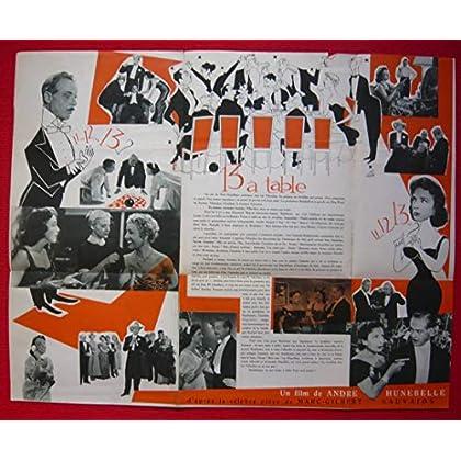 Dossier de presse de 13 à table (1955) – 47x60cm - Film de André Hunebelle avec Micheline Presle, Fernanrd Gravey – Photos N&B + résumé scénario – Bon état.