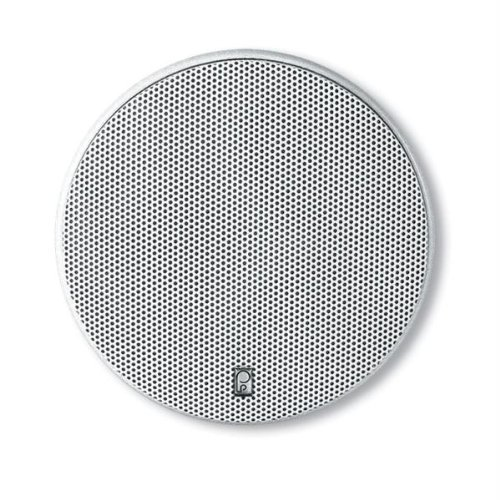 Poly-Planar 6.5-Inch Round Flush-Mount Marine Speakers (Pair)