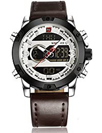 Naviforce-NF9097-A White Analog-Digital Chronograph Watch For-Men