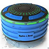 Duschradio – Hydro-Beat-Beleuchtung. IPX7 – vollständig wasserresistenter Bluetooth Radiolautsprecher mit LED- Beleuchtung. Aufladbar über Micro USB. (Blau und Schwarz)