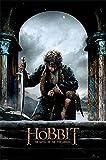 The Hobbit - BOTFA Kneel - Schlacht der 5 Heere Plakat Poster Druck - Größe 61x91,5 cm + 2 St Posterleisten Holz 61 cm