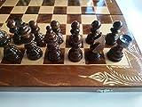 Neu groß handarbeit nussbraun Farbe Holz Schachspiel mit backgammon,Dame , hazel Holz Handspindel schachfiguren ,handgefertigt buchen Holz Schachbrett Kasten, holz Schachspiel , Brettspiel , Lernspiel