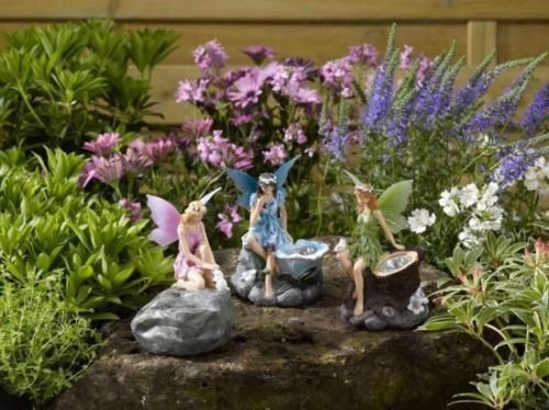 3-fairy-faries-angels-magical-statue-garden-ornamant-solar-power-strahler-led