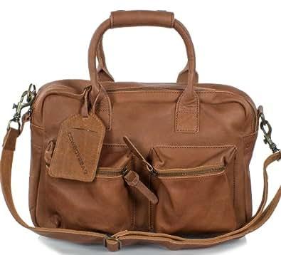 Cowboysbag Unisex Ledertasche - The Bag small (37x28x14 cm), Farben:Braun (Cognac)