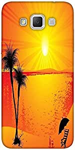 Snoogg summer background Hard Back Case Cover Shield For Samsung Galaxy Grand Max
