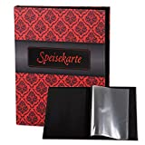 Speisekarte A4 Textilprint Ornament