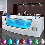 Whirlpool Baignoire Baignoire piscine luxe 2personnes Chauffage LED