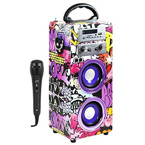 Altavoz Karaoke con Micrófono bluetooth Portátil inalámbrico nuevo modelo modo musica POP/ROK/NORMAL Lector USB control remoto,Smartphones Android