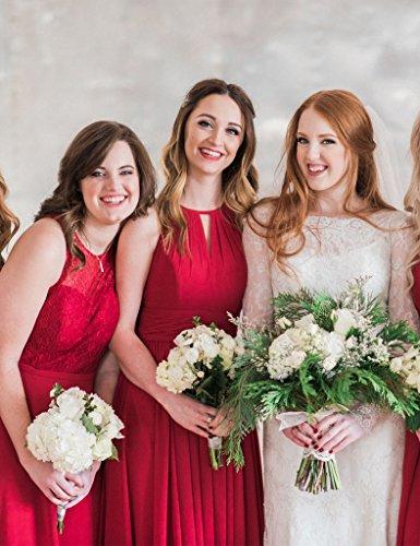 HUINI Damen Modern Kleid Rot