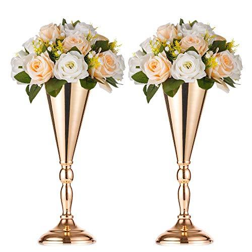 2-teilige Blumenständer aus Metall, Hauswand / TV Schrank gefälschte Blumenvase, Hochzeit / Party Empfangstisch Blumen Dekoration