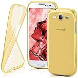 moex Samsung Galaxy S3 | Hülle Silikon Transparent Gold Clear Back-Cover TPU Schutzhülle Dünn Handyhülle für Samsung Galaxy S3 / S III Neo Case Ultra-Slim Silikonhülle Rückseite