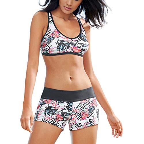 Plot Sport Bikini Damen Badeanzug Bikini Damen Set Push Up Sexy Sportlich Sexy Bademode für Teenager Mädchen und Frei Sonnenbrillen