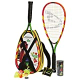 Speedminton 400065 Set de 2 Raquettes Multicolore Jaune/Rouge