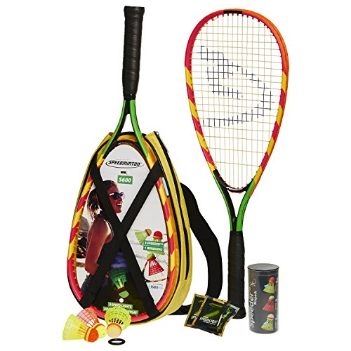 Speedminton S600 Set – Original Speed Badminton/Crossminton Allround Einsteiger Set inkl. 5 Speeder® und Tasche