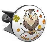 Plopp Waschbeckenstöpsel Eule / Owl, Good luck, Stöpsel, Excenter Stopfen, für Waschbecken, Waschtisch, Abfluss