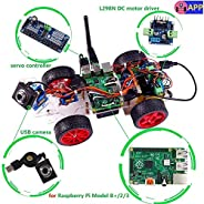 SunFounder Smart Video Car Kit for Raspberry Pi with Android App, Compatible with RPi 3, 2 and RPi 1 Model B+
