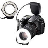 SAMTIAN RF600E 18 LED ultra helle Makro LED RingBlitz, vielseitig begabte Beleuchtung...