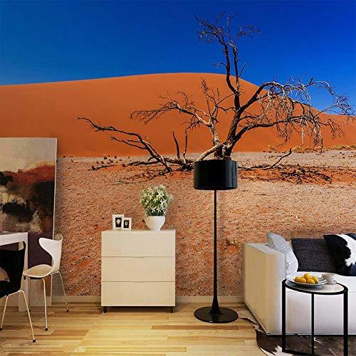 Svghfk Tapete Wandbild Blauer Himmel Rote Wüste 3D Mode Landschaftsdekoration Hintergründe Esszimmer Galerie Wandpapier, 300 * 210 cm - Moderne Damast-galerie