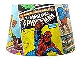 Marvel Spiderman Abat-jour ou plafonnier Abat-jour Avengers Hulk Thor Iron Man garçons chambre à coucher Accessoires cadeaux Superhero Grande 33cm double usage vintage