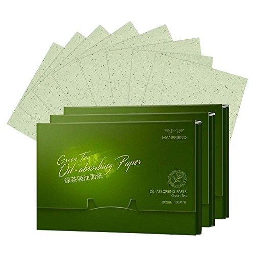 Scopri offerta per 300 fogli di tè verde viso Oil Control Assorbimento Film velina carta assorbente