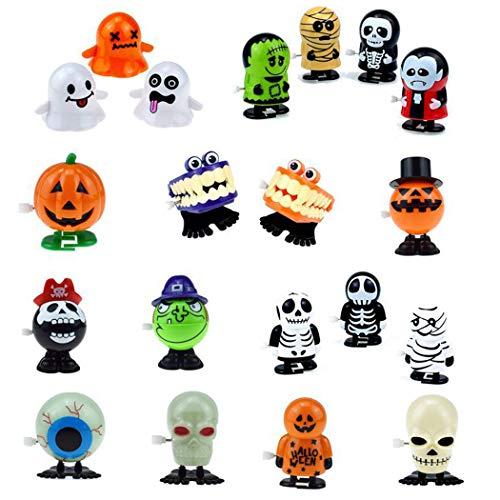 FunPa 6PCS Gefülltes Ei Spielzeug Aufzieh Spielzeug Kreativ Neuheit Kinder Spielzeug Clockwork Toy Für Halloween (Halloween Kinder Ei)